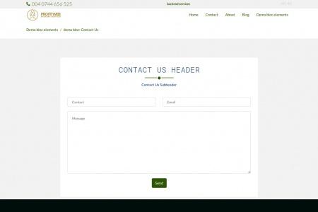 demo bloc: Contact Us