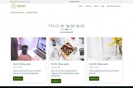 demo bloc: Blog